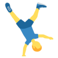 Man Cartwheeling on Twitter Twemoji 12.1.3