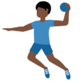 Man Playing Handball: Dark Skin Tone on Twitter Twemoji 12.1.3
