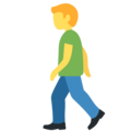 Man Walking on Twitter Twemoji 12.1.3
