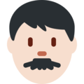 Man: Light Skin Tone on Twitter Twemoji 12.1.3