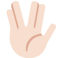Vulcan Salute: Light Skin Tone on Twitter Twemoji 12.1.3