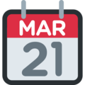 Tear-Off Calendar on Twitter Twemoji 12.1.3