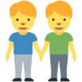 Men Holding Hands on Twitter Twemoji 12.1.3