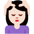 Woman Getting Massage: Light Skin Tone on Twitter Twemoji 12.1.3