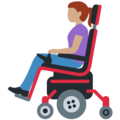 Woman in Motorized Wheelchair: Medium Skin Tone on Twitter Twemoji 12.1.3