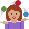 Woman Juggling: Medium Skin Tone on Twitter Twemoji 12.1.3