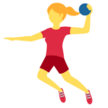 Woman Playing Handball on Twitter Twemoji 12.1.3