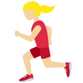 Woman Running: Medium-Light Skin Tone on Twitter Twemoji 12.1.3