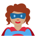 Woman Superhero: Medium Skin Tone on Twitter Twemoji 12.1.3