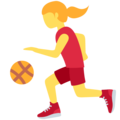 Woman Bouncing Ball on Twitter Twemoji 12.1.3