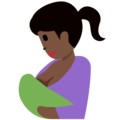 Breast-Feeding: Dark Skin Tone on Twitter Twemoji 12.1.4