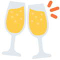 Clinking Glasses on Twitter Twemoji 12.1.4