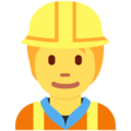Construction Worker on Twitter Twemoji 12.2