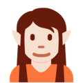 Elf: Light Skin Tone on Twitter Twemoji 12.1.4