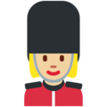 Woman Guard: Medium-Light Skin Tone on Twitter Twemoji 12.1.4
