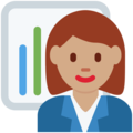 Woman Office Worker: Medium Skin Tone on Twitter Twemoji 12.1.4