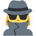 Woman Detective on Twitter Twemoji 12.1.4