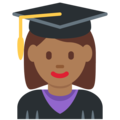 Woman Student: Medium-Dark Skin Tone on Twitter Twemoji 12.1.4