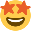 Star-Struck on Twitter Twemoji 12.1.4