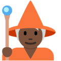 Mage: Dark Skin Tone on Twitter Twemoji 12.1.4