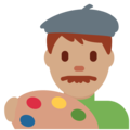Man Artist: Medium Skin Tone on Twitter Twemoji 12.1.4