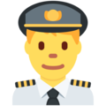 Man Pilot on Twitter Twemoji 12.1.4