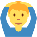 Man Gesturing OK on Twitter Twemoji 12.1.4