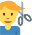 Man Getting Haircut on Twitter Twemoji 12.1.4