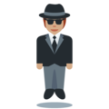 Person in Suit Levitating: Medium Skin Tone on Twitter Twemoji 12.1.4
