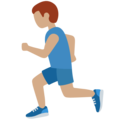 Man Running: Medium Skin Tone on Twitter Twemoji 12.1.4
