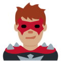 Man Supervillain: Medium Skin Tone on Twitter Twemoji 12.1.4