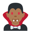 Man Vampire: Medium-Dark Skin Tone on Twitter Twemoji 12.1.4
