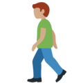 Man Walking: Medium Skin Tone on Twitter Twemoji 12.1.4