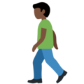 Man Walking: Dark Skin Tone on Twitter Twemoji 12.1.4