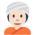 Person Wearing Turban: Light Skin Tone on Twitter Twemoji 12.1.4