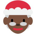 Mrs. Claus: Dark Skin Tone on Twitter Twemoji 12.1.4