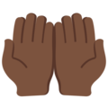 Palms Up Together: Dark Skin Tone on Twitter Twemoji 12.1.4