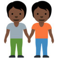 People Holding Hands: Dark Skin Tone on Twitter Twemoji 12.1.4
