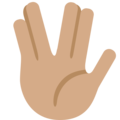 Vulcan Salute: Medium Skin Tone on Twitter Twemoji 12.1.4