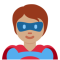 Superhero: Medium Skin Tone on Twitter Twemoji 12.1.4