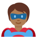 Superhero: Medium-Dark Skin Tone on Twitter Twemoji 12.1.4