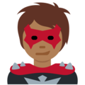 Supervillain: Medium-Dark Skin Tone on Twitter Twemoji 12.1.4