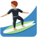Person Surfing: Medium Skin Tone on Twitter Twemoji 12.1.4