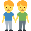 Men Holding Hands on Twitter Twemoji 12.1.4