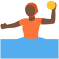 Person Playing Water Polo: Dark Skin Tone on Twitter Twemoji 12.1.4
