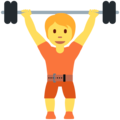 Person Lifting Weights on Twitter Twemoji 12.1.4