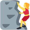 Woman Climbing on Twitter Twemoji 12.1.4