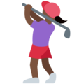 Woman Golfing: Dark Skin Tone on Twitter Twemoji 12.1.4