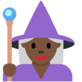 Woman Mage: Dark Skin Tone on Twitter Twemoji 12.1.4