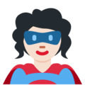 Woman Superhero: Light Skin Tone on Twitter Twemoji 12.1.4